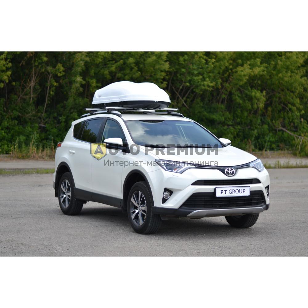 Автобокс на крышу Белый Turino 1 (410 л) Аэродинамический с двусторонним открыванием на крышу автомобиля